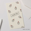 Sweet up cakes - Foil accent message card with envelope