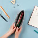Zipper pouch - Boucle canvas zipper pen case pouch