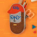 Antenna Shop Boucle canvas zipper pen case pouch