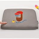 Extra cushioning - Beard man boucle canvas iPad laptop pouch case