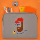 Antenna Shop Beard man boucle canvas iPad laptop pouch case