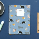 Cat - Lovable spiral bound lined notebook ver2