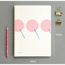 Size - designlab kki Combination spiral large lined blank notebook