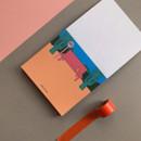 Memowang bench illustration memo notepad