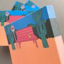Detail of Memowang bench illustration memo notepad