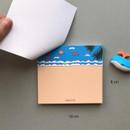 Size of Memowang beach illustration memo notepad
