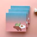 Memowang brunch illustration memo notepad