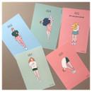 CommaB pastel illustration postcard