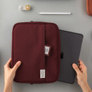 Example of use - A low hill basic pocket tablet iPad zip pouch ver5