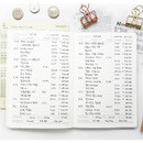Daily list - O-CHECK Spring come cash book planner