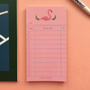 Flamingo - CommaB illustration to do list notepad