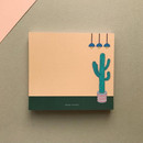 Memowang cactus illustration memo notepad