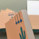 Detail of Memowang cactus illustration memo notepad