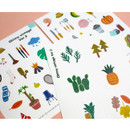 Detail of Oh my vintage illustration paper sticker set of 3 sheets