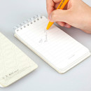 Example of use - Ggo deung o pocket spiral lined notepad