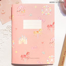 Merry go round - O-CHECK Spring come small lined school notebook