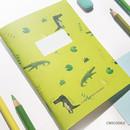 Crocodile - O-CHECK Spring come small lined school notebook