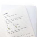 Lined - O-CHECK Spring come medium school notebook