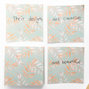Leaf - Vintage and cute illustration memo writing notepad