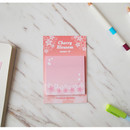 N.IVY Cherry blossom square sticky memo it notepad