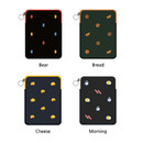 Option - Tailorbird embroidered tablet PC iPad zip pouch ver4