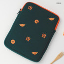 Bread - Tailorbird embroidered tablet PC iPad zip pouch ver4