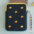 Cheese - Tailorbird embroidered tablet PC iPad zip pouch ver4
