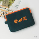 Bread - Wanna This Tailorbird embroidered card case wallet ver4