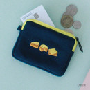 Cheese - Wanna This Tailorbird embroidered card case wallet ver4