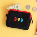 Bear - Wanna This Tailorbird embroidered card case wallet ver4