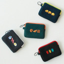 Wanna This Tailorbird embroidered card case wallet ver4