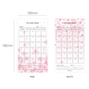 Size - Cherry blossom 30 days goal planning tracker 12 sheets