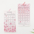 Example of use - Cherry blossom 30 days goal planning tracker 12 sheets