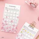 Pink - Cherry blossom 30 days goal planning tracker 12 sheets