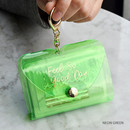 Neon green - Feel so good shine card case book with key ring