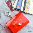 Rose red - Feel so good shine card case book with key ring