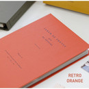 Retro orange - Album de photos 4X6 slip in pocket photo album