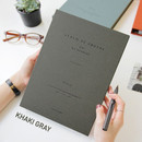 Khaki gray - Album de photos 4X6 slip in pocket photo album