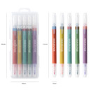 Size - Livework Vintage 10 Colors double ended color gel pen set