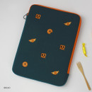 """Bread - Wanna This Tailorbird embroidered 13"""" laptop pouch case ver4"""