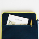 """Back pocket - Wanna This Tailorbird embroidered 13"""" laptop pouch case ver4"""