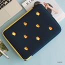 """Cheese - Wanna This Tailorbird embroidered 13"""" laptop pouch case ver4"""