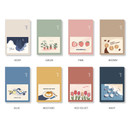 Color - Ardium Pocket large lined notebook with postcard