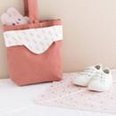Pink bunny - Livework Illustration pattern rounded edge hankie handkerchief