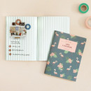 Free note - ICONIC Flamingo A6 size cash book planner