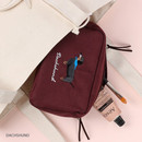 Dachshund - Wanna This Tailorbird embroidered daily makeup pouch bag ver3