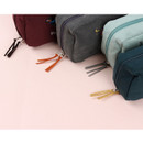 Double zippered - Wanna This Tailorbird embroidered daily makeup pouch bag ver3