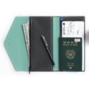 Premium PU large passport case holder zipper wallet