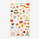 Dailylike For your heart paper adhesive sticker - Happy birthday