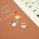 Example of use - Dailylike For your heart paper adhesive sticker - Face